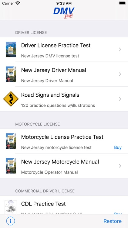 New Jersey DMV Test Prep