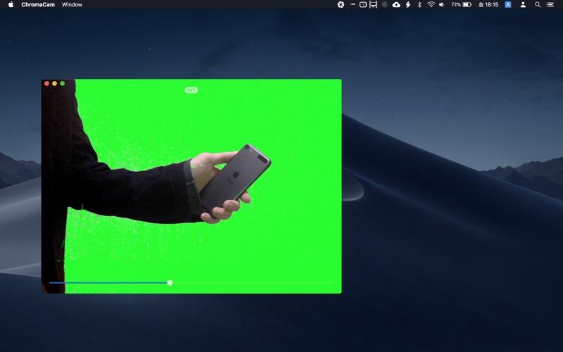 クロマキー合成動画撮影カメラ :ChromaCam for Mac