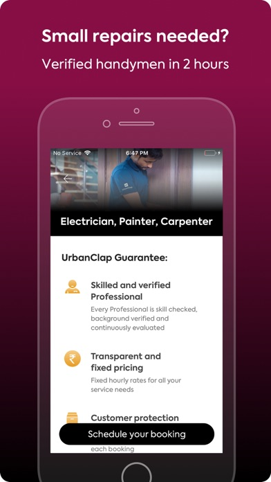 Screenshot for UrbanClap - Service Experts in India App Store