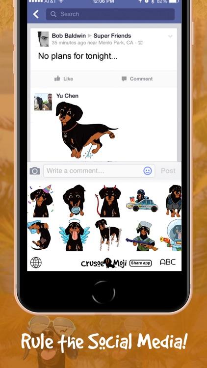 CrusoeMoji - Dachshund sticker screenshot-7