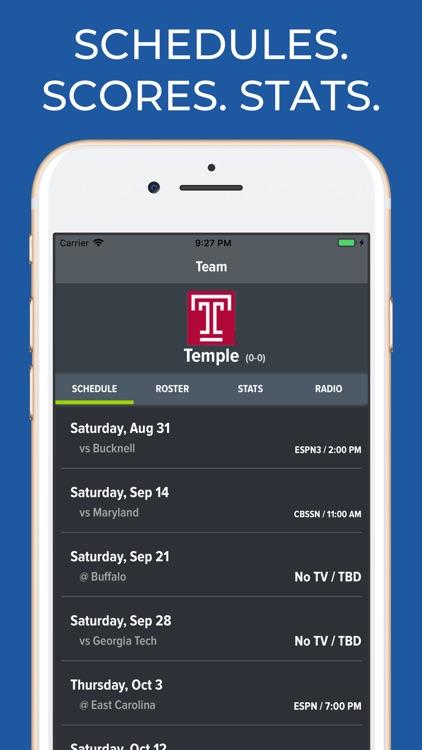Temple Football App by AKW Ventures, LLC