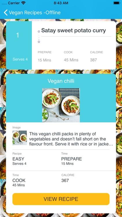 Vegan Recipes-Offline screenshot-6