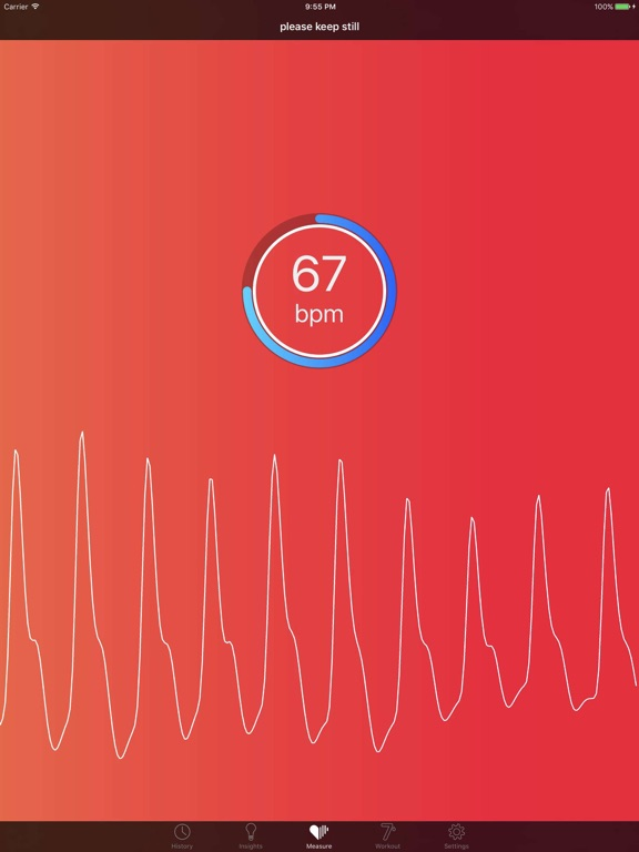 Cardiio - Heart Rate Monitor + 7 Minute Workout Exercise Routine for Cardio Health and Fitness screenshot