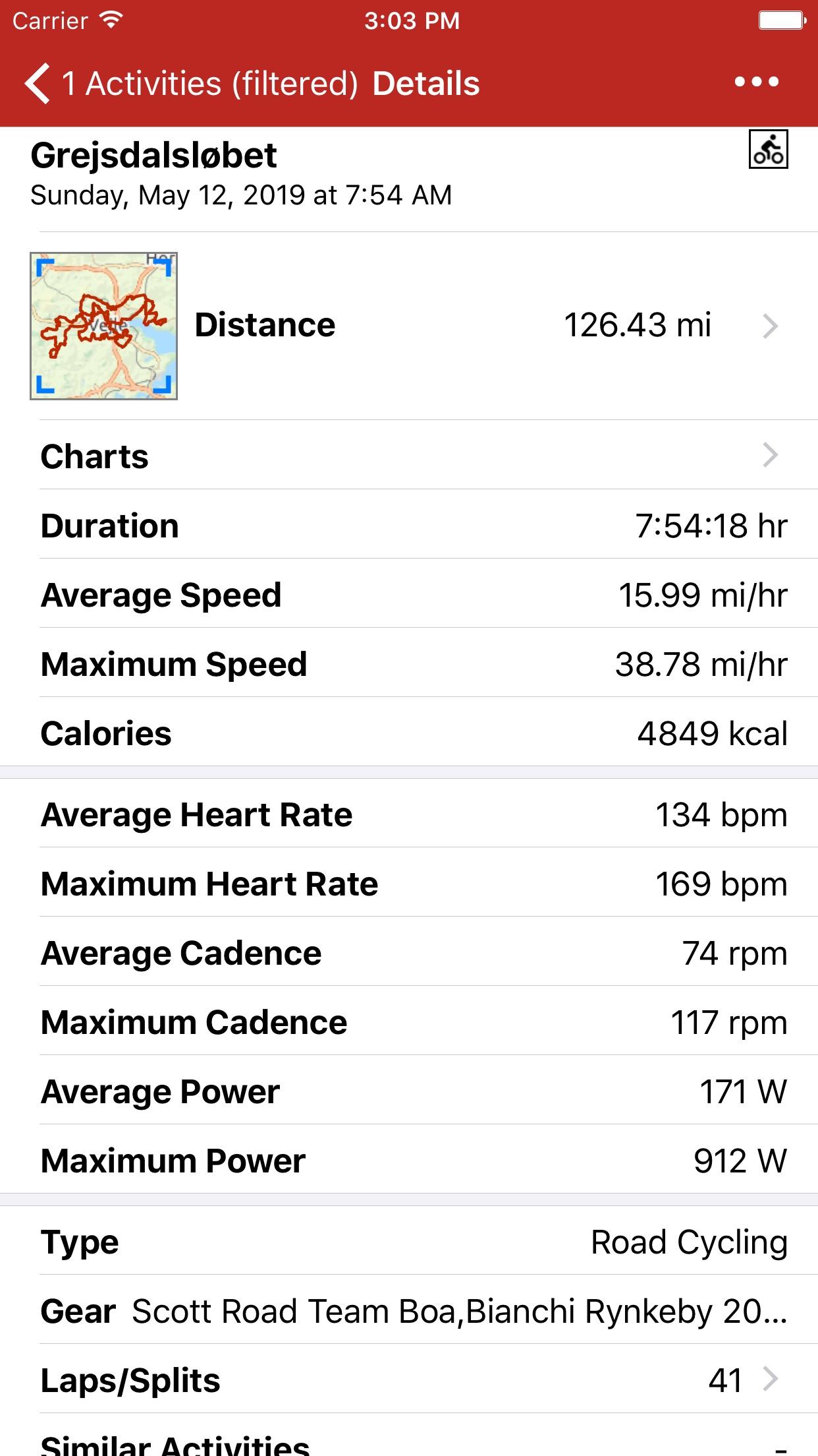 Screenshot do app RunGap - Workout Data Manager