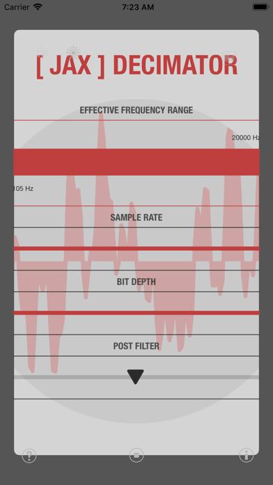 JAX Decimator (Audio Unit) screenshot 3