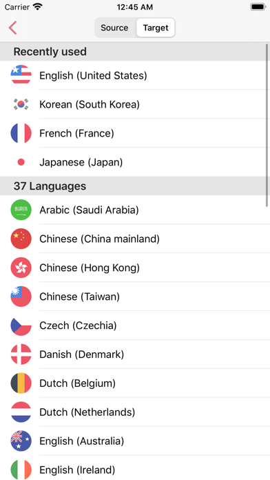 iTranslator Widget 2のおすすめ画像3