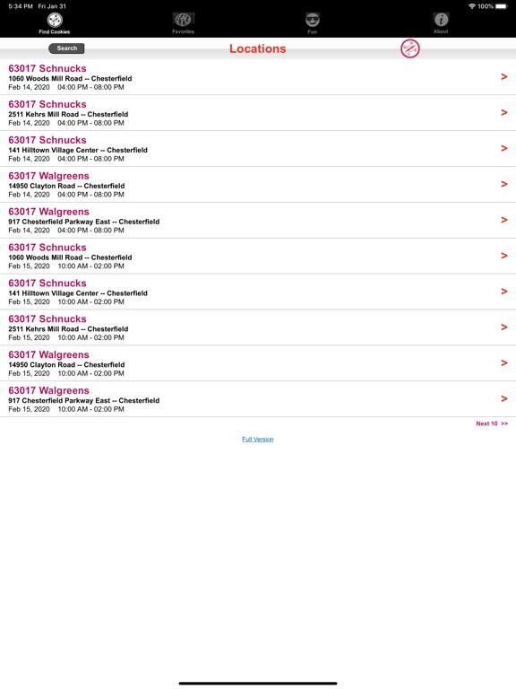 Girl Scout Cookie Locator screenshot 12