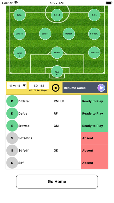 Soccer Substitution Manager screenshot 1