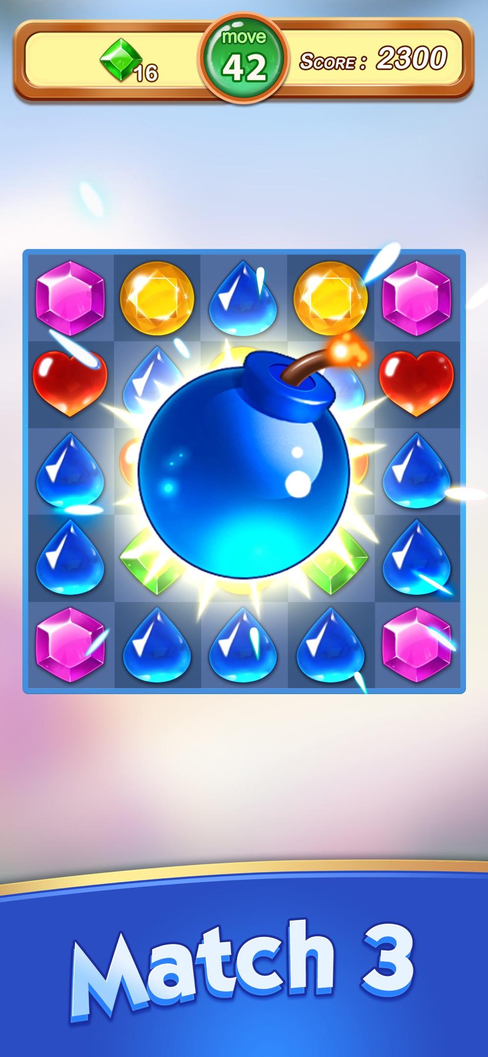 Jewels & Gems - Match 3 Games hack tool