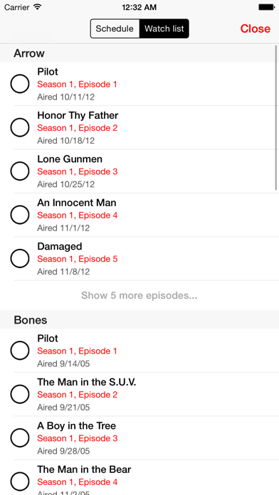 tv show tracker 3 screenshot