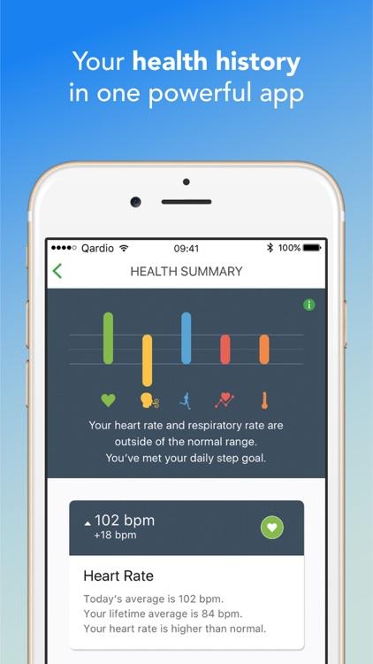 Qardio heart health screenshot-4