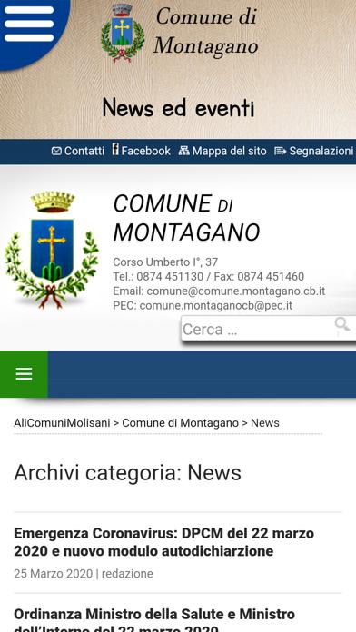 Screenshot of Montagano Comune5