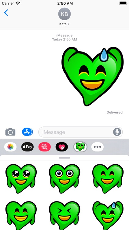 Green Hearts stickers