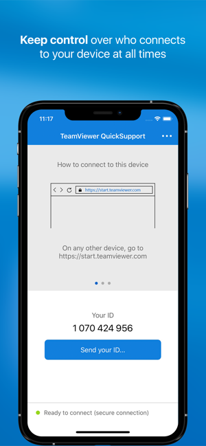 ‎TeamViewer QuickSupport Screenshot