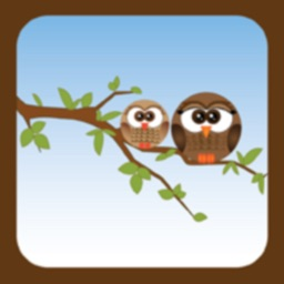 Draw Line: owl and chick