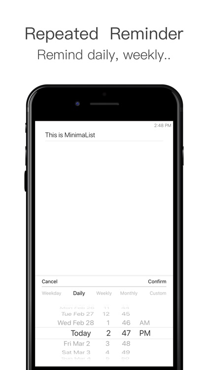 MinimaList - To do list & Task screenshot-6
