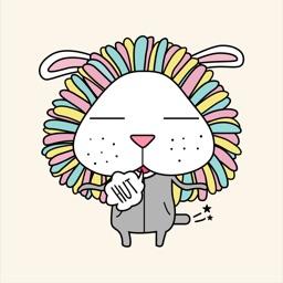 Lion Rabbit Animated Stickers