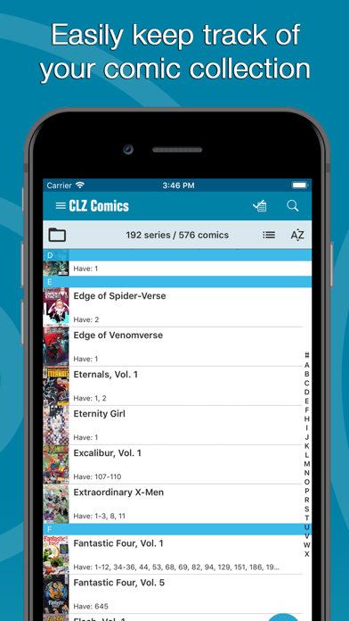 Screenshot #1 pour CLZ Comics - Comic Database