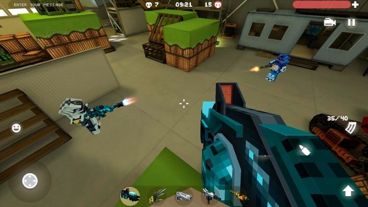 Blocky Cars Online - tank wars screenshot-5