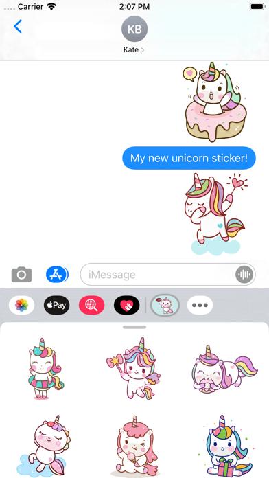 Naughty Unicorn Stickers screenshot 3