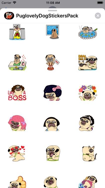 Pug love Dog Stickers Pack screenshot-6