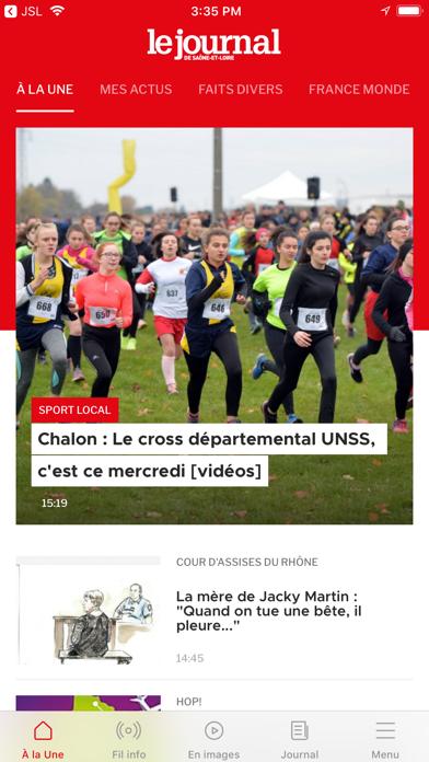 Le Journal de Saône et Loire screenshot one