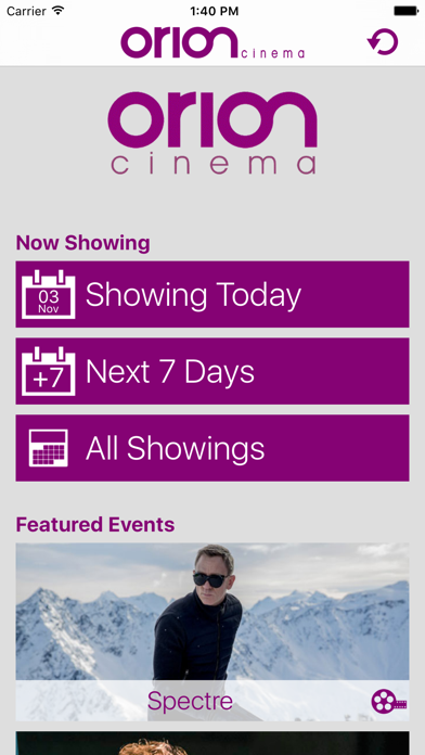 Orion Cinemas UK screenshot one