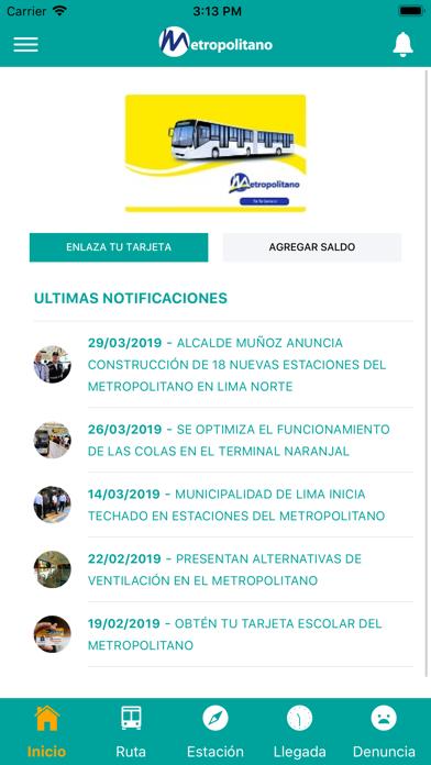 Screenshot for Metropolitano App in Peru App Store
