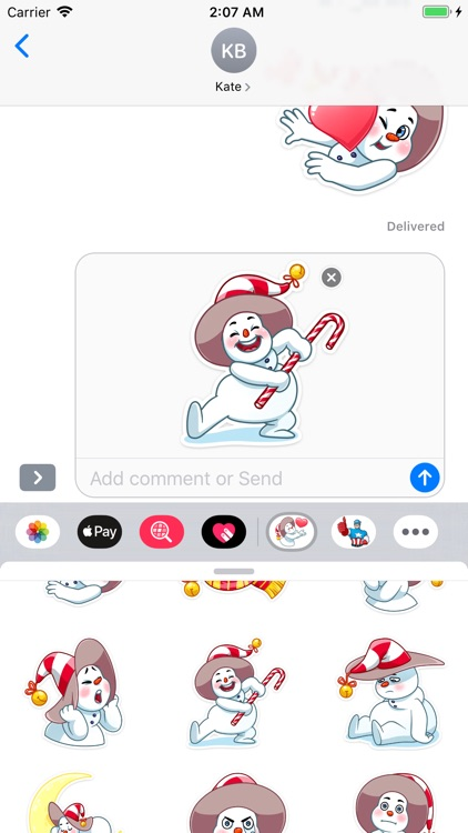 The Smiley Snowman Stickers screenshot-9