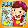 哎呀(AR)动物岛:中英双语宝宝益智拼图趣味涂色学画画唱儿歌