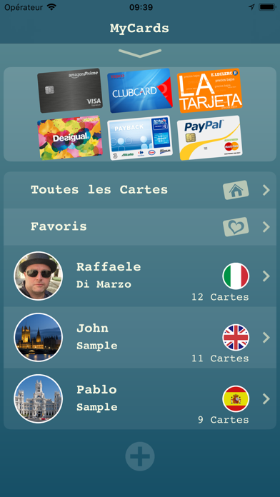 Screenshot #1 pour My Cards - Portefeuille