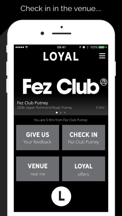 The Loyal App screenshot one