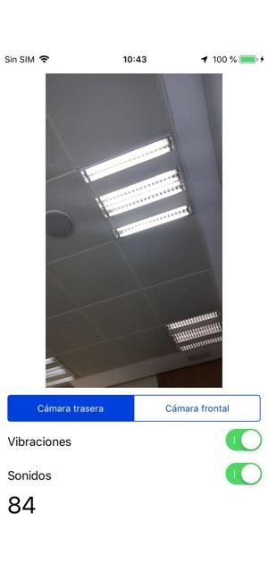 Ventana principal del Detector de luz ONCE
