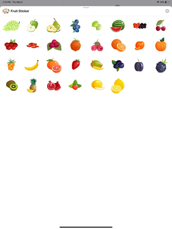 Fruit Delicious Stickers screenshot 4
