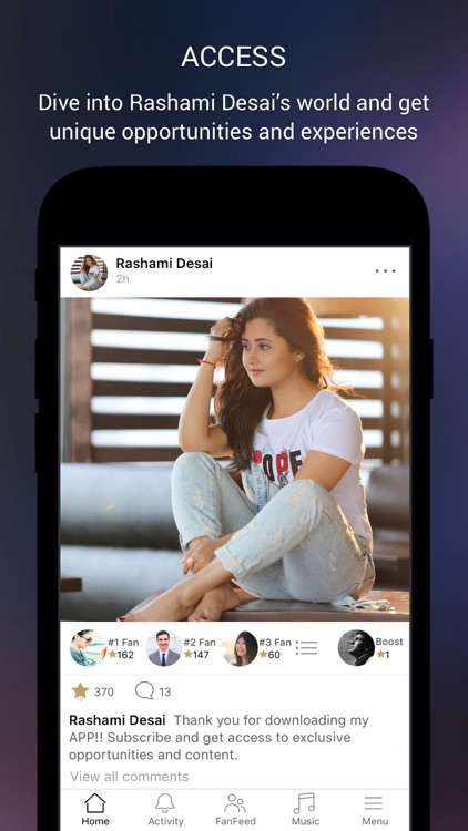 Rashami Desai Official App screenshot-1