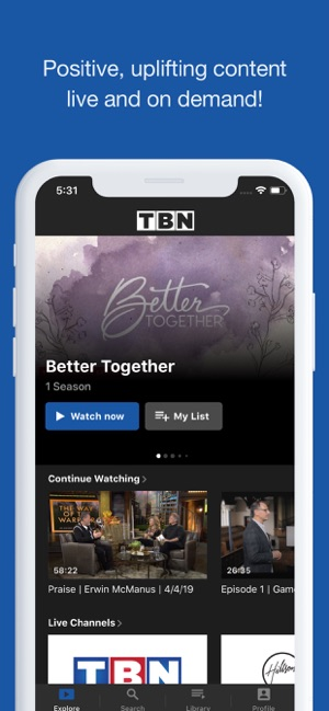 TBN: Watch TV Live & On Demand on the App Store