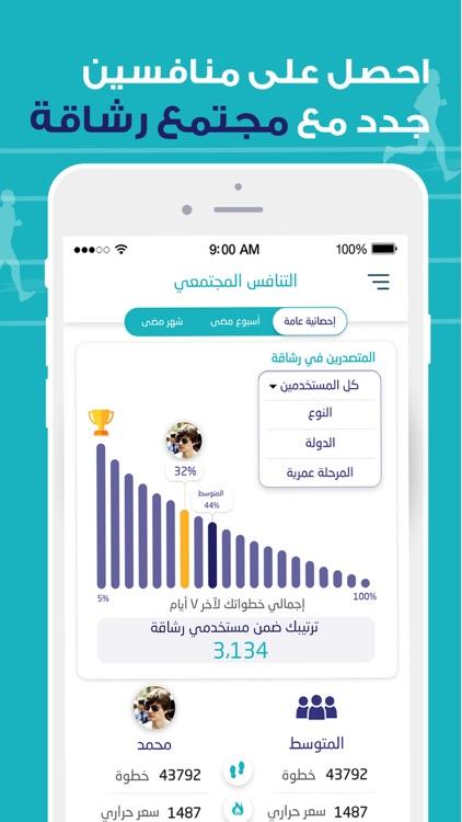 رشاقة -عداد الخطوات وشرب الماء screenshot-3