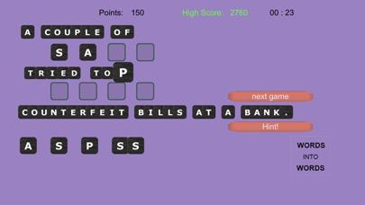 WORDS into WORDS screenshot 12