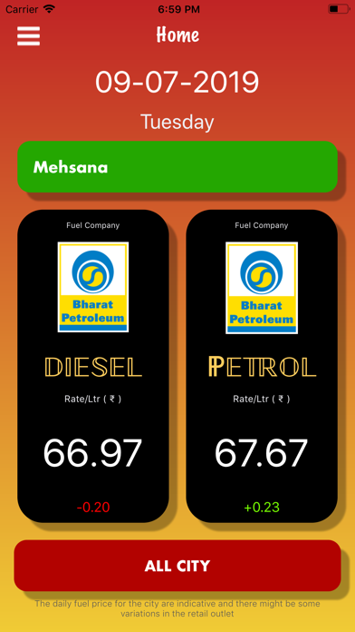 Petrol Diesel Rate Live Daily