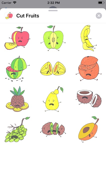 Cut Fruits Sticker Pack