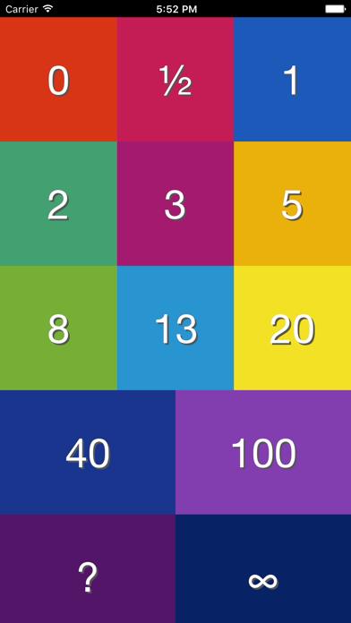 Sprint Planning Poker Screenshot