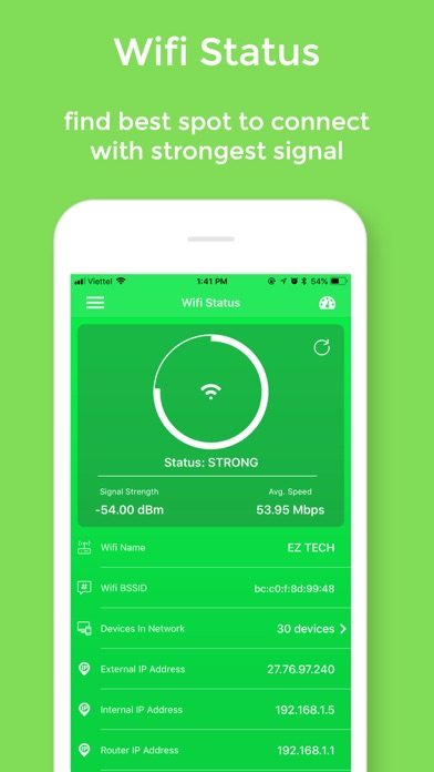 Screenshot for Wifi Status Pro - No Ads in United States App Store