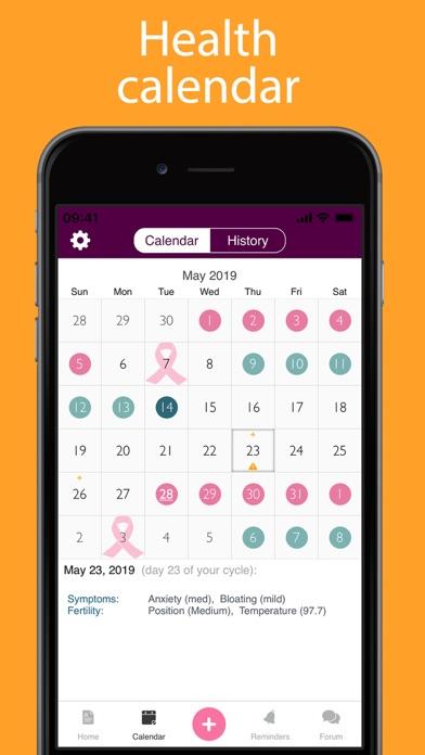 iPeriod Lite Period Tracker screenshot four