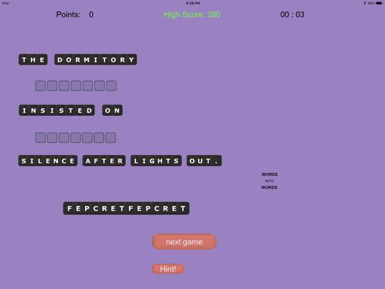WORDS into WORDS screenshot 7