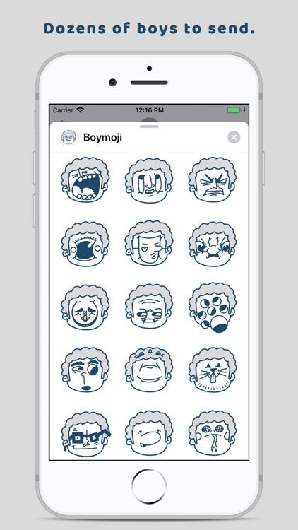 Boymoji - Cartoon Sticker Pack screenshot-3