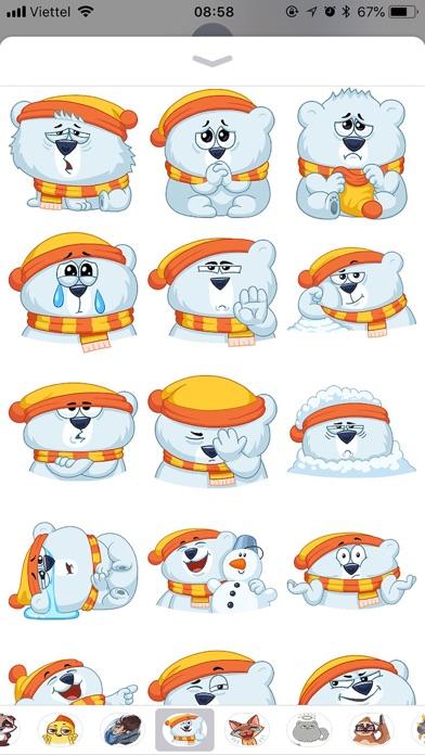 Kitty Bear Emoji Funny Sticker screenshot 2