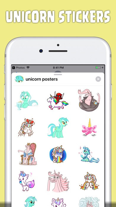 Screenshot for sweet unicorn stickers in United States App Store