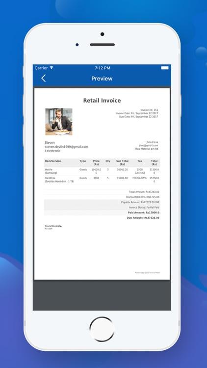 Quick Invoice Maker screenshot-3