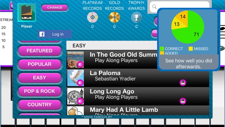 Play Along Keys  piano karaoke screenshot-6