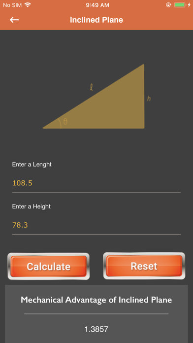 Calc of Plane and Pulley screenshot 3
